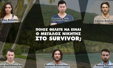 Live ψηφοφορία: Ποιος είναι το φαβορί για να πάρει τη νίκη στο Survivor; (Video)