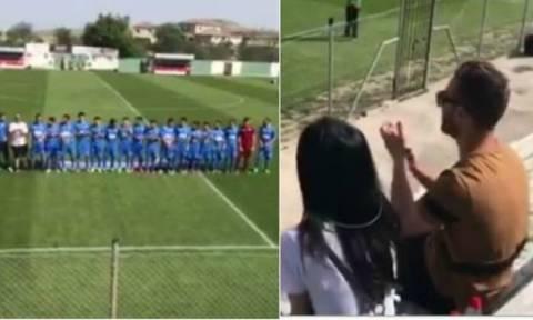 Η πιο απίστευτη πρόταση γάμου έγινε σε κυπριακό γήπεδο- Συνωμότησε με τους ποδοσφαιριστές (video)