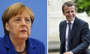 Εκλογές Γαλλία 2017: Η Μέρκελ «ψηφίζει» Μακρόν
