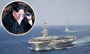 Απειλεί ξανά η Βόρεια Κόρεα: «Θα βυθίσουμε το αεροπλανοφόρο των ΗΠΑ με ένα χτύπημα» (vids)