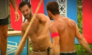 Survivor: Χρανιώτης και Ντάνος πιάστηκαν στα χέρια; Η σκηνή που βάζει «φωτιά» στο παιχνίδι (vid)