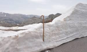 Κρήτη: Στα «λευκά» ντύθηκε ο Ψηλορείτης στα μέσα της Άνοιξης (pics)