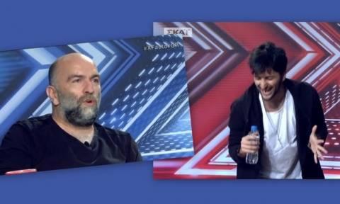 X-factor - Μπάμπης Στόκας: «Είσαι βλαμμένος…»
