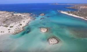 Βίντεο που κλέβει τις εντυπώσεις: Οι ωραιότερες παραλίες της Κρήτης από ψηλά