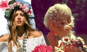 Σε λένε το κορίτσι του Μάη: 14 χτενίσματα με λουλούδια στα μαλλιά!