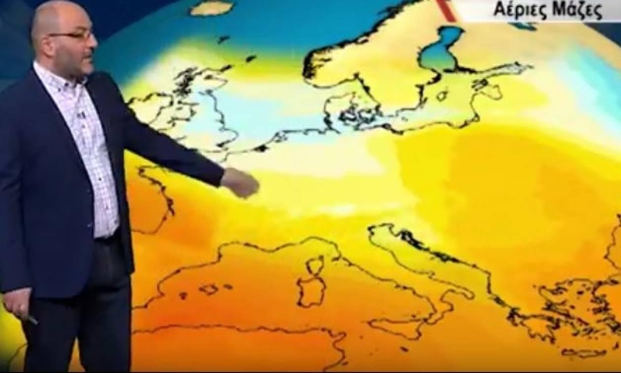 Καιρός: Η πρώτη εκτίμηση του Σάκη Αρναούτογλου για τη θερμή εισβολή στα μέσα του μήνα (Video)