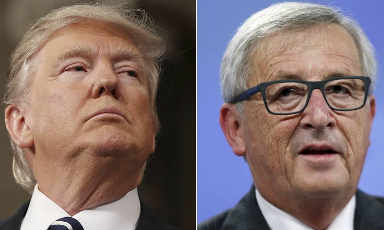 Ιστορική συνάντηση Τραμπ με Γιούνκερ και Τουσκ στις Βρυξέλλες