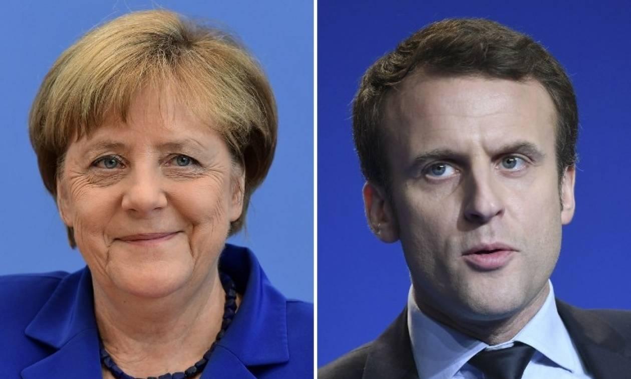 Εκλογές Γαλλία: Σε ιδιαίτερα θερμό κλίμα η επικοινωνία Μέρκελ - Μακρόν