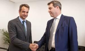 Συνάντηση Μητσοτάκη με τον Βαυαρό υπουργό Οικονομικών