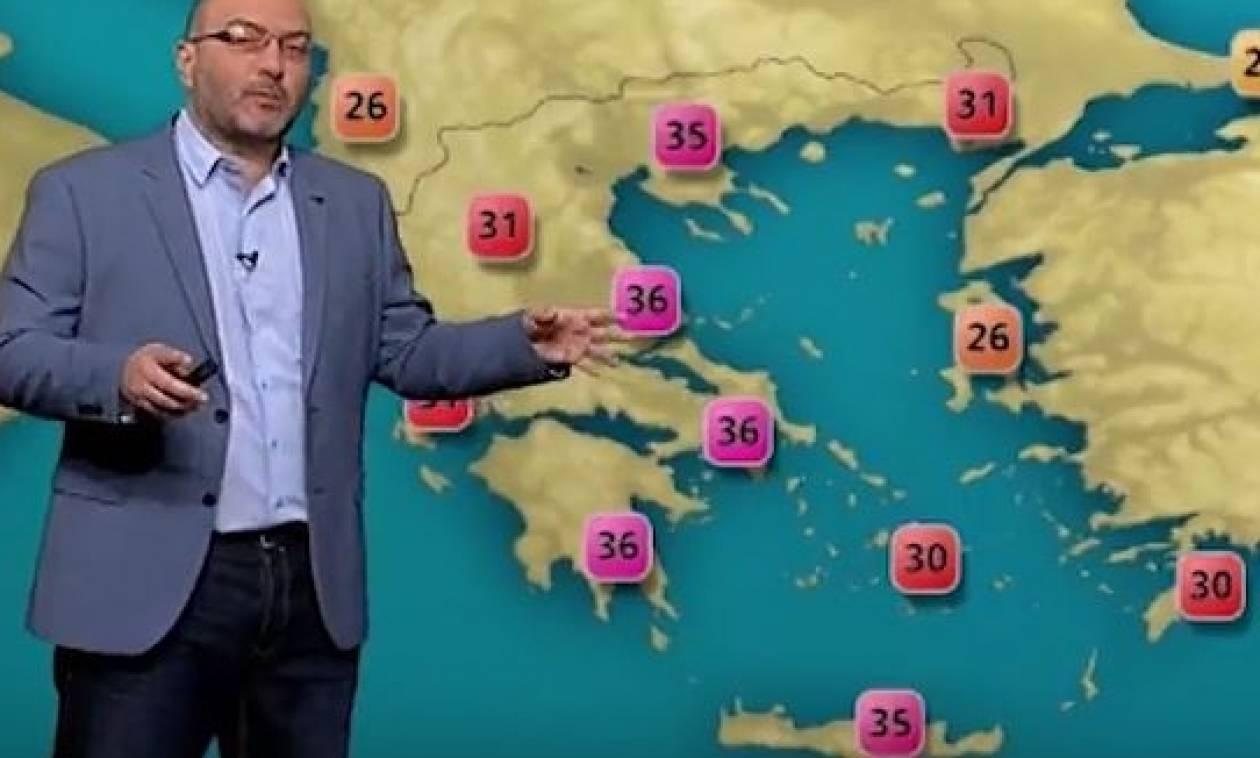 Καιρός: Ο Σάκης Αρναούτογλου για τα 36άρια που έρχονται... (video)