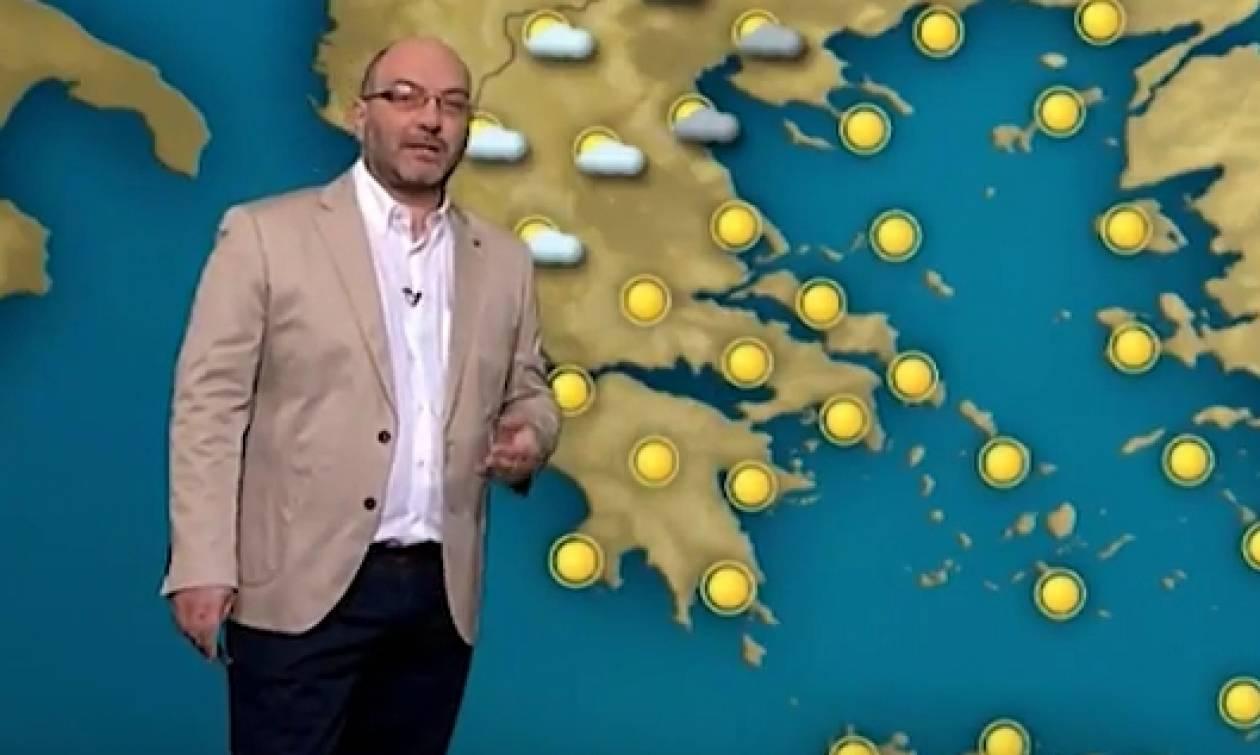Καιρός: Ολες οι εξελίξεις για τον μίνι καύσωνα και τις βροχές απ' τον Σάκη Αρναούτογλου (video)