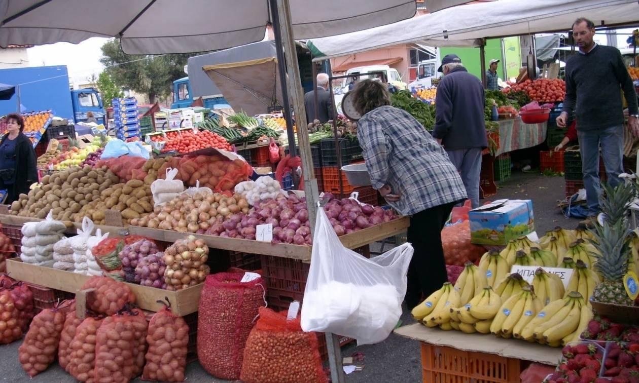 Συμμετοχή στην απεργία της Τετάρτης εξήγγειλαν οι παραγωγοί - πωλητές λαϊκών αγορών