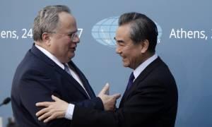 Τι συζήτησε ο Κοτζιάς με τον Κινέζο υπουργό Εξωτερικών