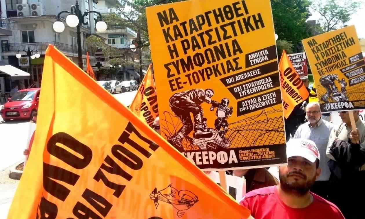Ένταση στο Ασπρόπυργο σε πορεία μεταναστών εργατών