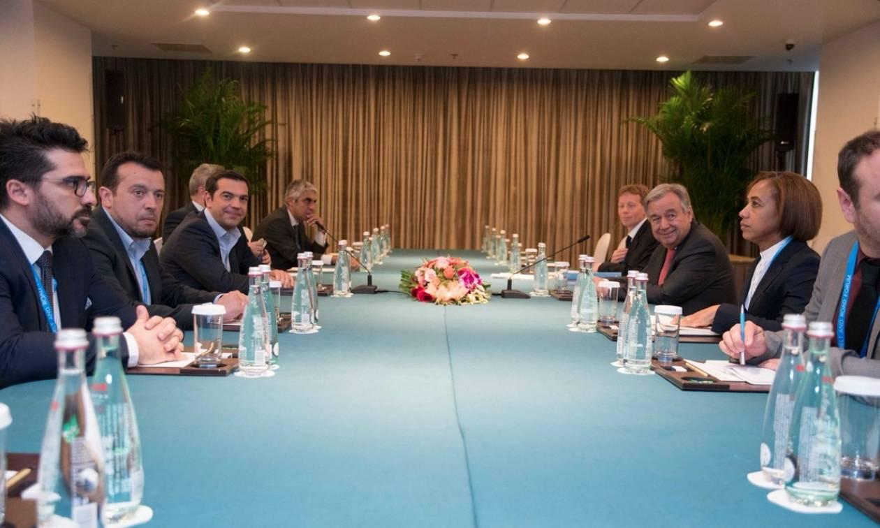 Κίνα: Παρέμβαση του Αλέξη Τσίπρα για το Κυπριακό σε συνάντηση με τον γγ του ΟΗΕ Γκουτέρες