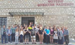 Γερμανοί μαθητές «προσκυνούν» στο Δίστομο