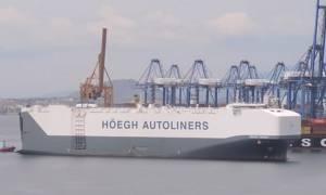 Στον Πειραιά το μεγαλύτερο πλοίο μεταφοράς αυτοκινήτων στον κόσμο (video)