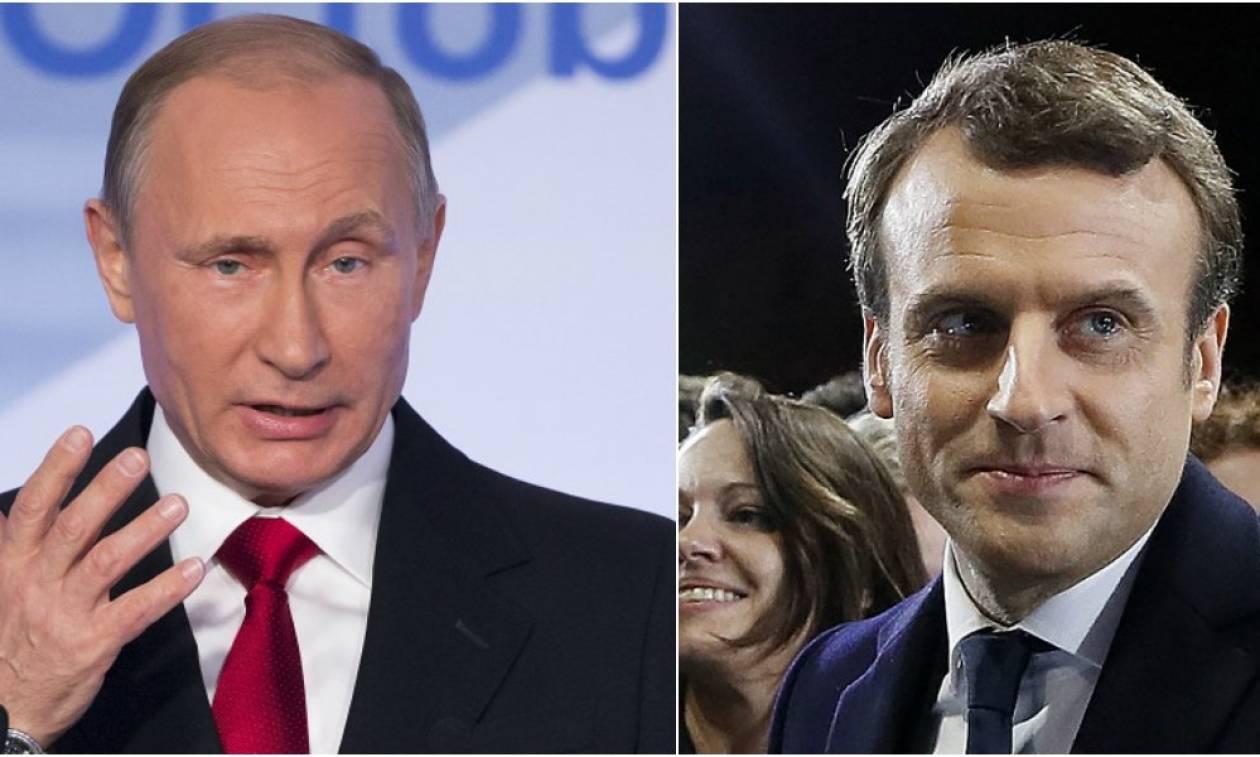 Τηλεφωνική επικοινωνία Πούτιν - Μακρόν