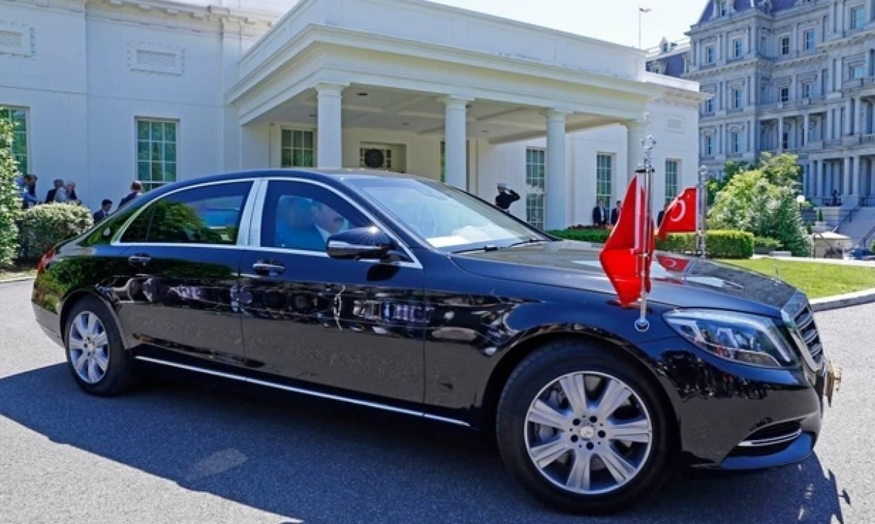 Με το δικό του θωρακισμένο αυτοκίνητο πήγε ο Ερντογάν στις ΗΠΑ! (pics)