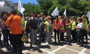 Στους δρόμους οι εργαζόμενοι στην Τοπική Αυτοδιοίκηση - Συναντήθηκαν με τον Πάνο Σκουρλέτη