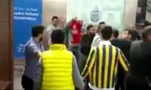 Final 4: Νέο επεισόδιο στην Πόλη - Πέσιμο οπαδών της Φενέρ στους φίλους του Ολυμπιακού (video)