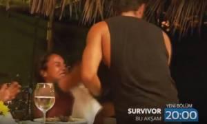 Survivor: Το χαστούκι της Τουρκάλας στον Κωνσταντίνο Βασάλο - Την φίλησε και…