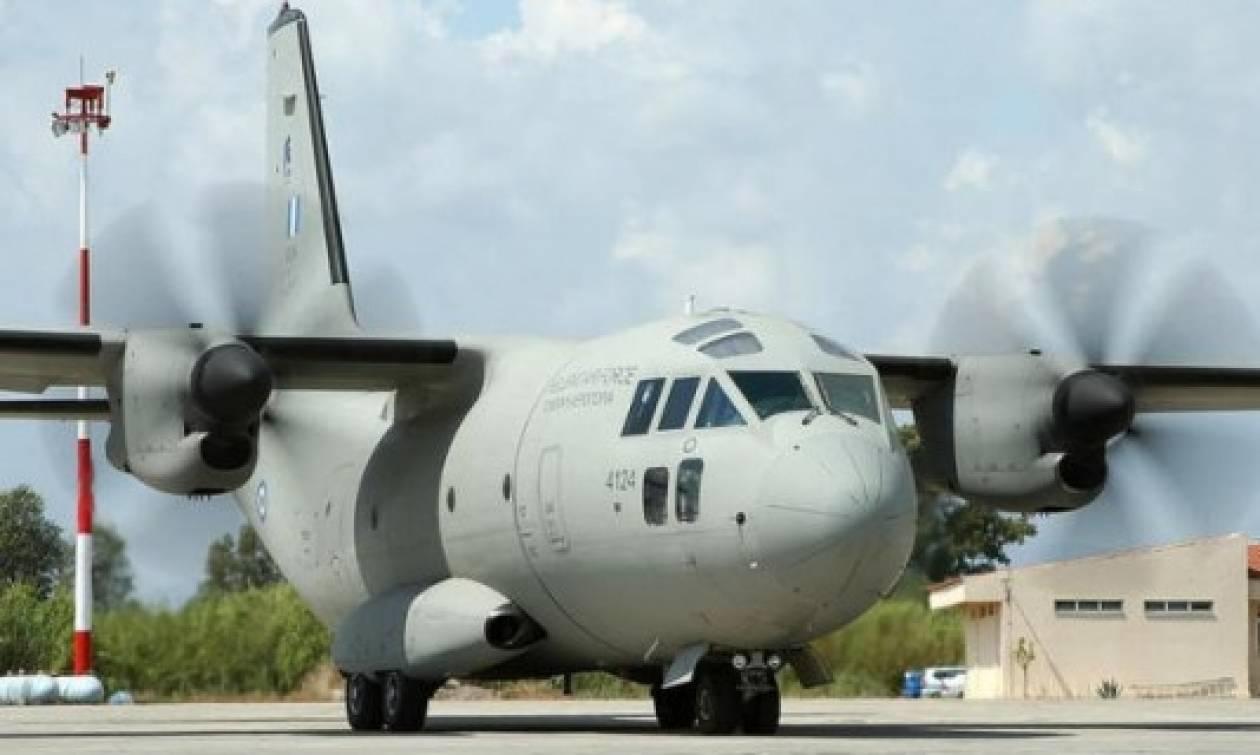 Τρόμος με αεροσκάφος της Πολεμικής Αεροπορίας κατά τη μεταφορά ασθενούς