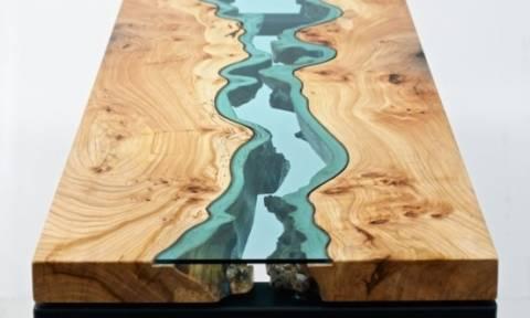 «The River Collection»: Ξεχωριστά τραπεζάκια καθιστικού από γυαλί και ξύλο!