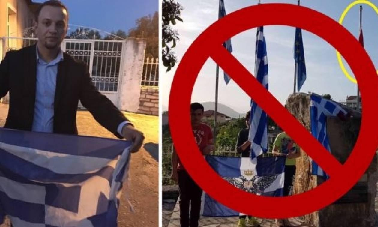 Αλβανοί κατέβασαν και ποδοπάτησαν την ελληνική σημαία!