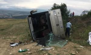 Ανατροπή λεωφορείου με μαθητές στις Σέρρες – Δεκάδες οι τραυματίες