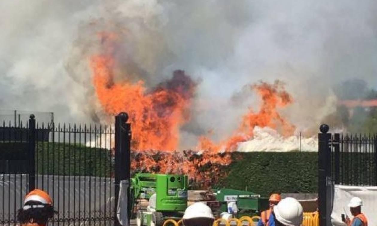 Συναγερμός στο Λονδίνο: Φωτιά τώρα στο στάδιο τένις του Γουίμπλεντον (Pics)