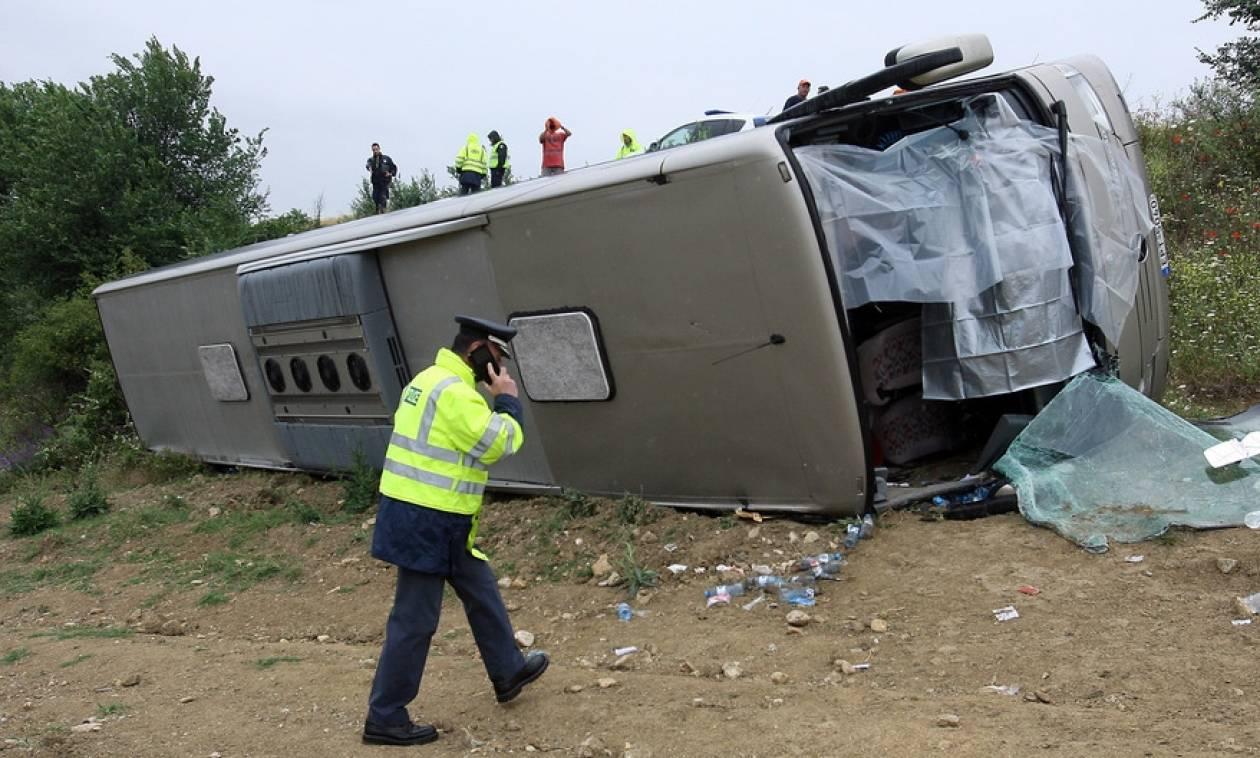 Ανατροπή λεωφορείου με μαθητές στις Σέρρες: Νέες εικόνες – σοκ