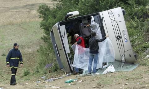 Ανατροπή λεωφορείου στις Σέρρες: Νοσηλεύονται 21 τραυματίες