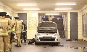 Απίστευτο: Αυτοκίνητο «όρμηξε» στο μετρό του Βερολίνου - Έξι τραυματίες (pics)