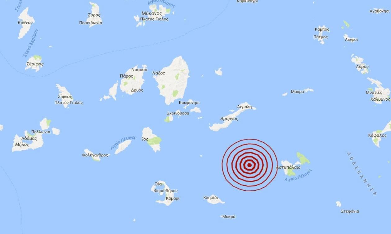 Σεισμός κοντά στην Αστυπάλαια