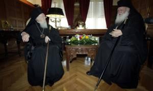 Βαρθολομαίος σε Ιερώνυμο: Με τα λόγια σας και τα έργα σας ανακουφίζετε τον Ελληνικό λαό