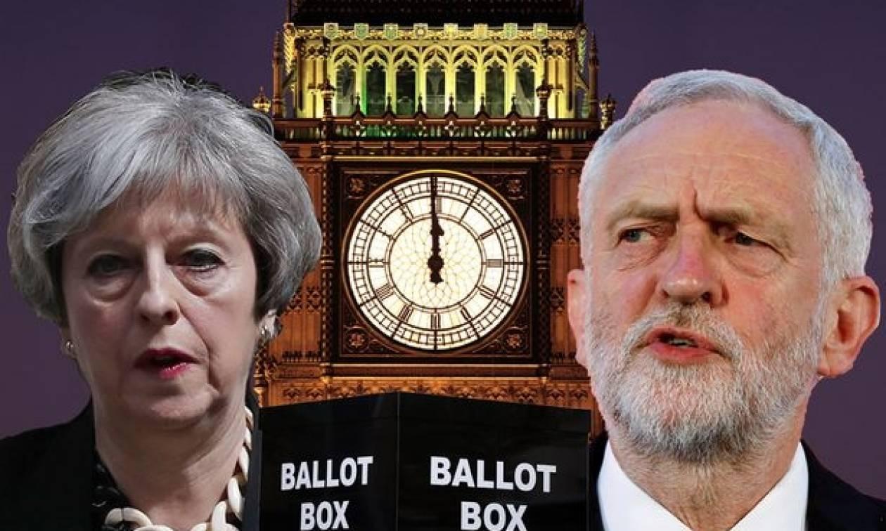 Αποτελέσματα εκλογές Βρετανία: Νίκη της Τερέζα Μέι χωρίς αυτοδυναμία δείχνουν τα Exit Polls