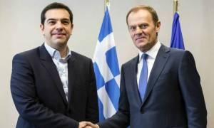Τσίπρας προς Τουσκ: Θέλουμε λύση για το χρέος στο Eurogroup