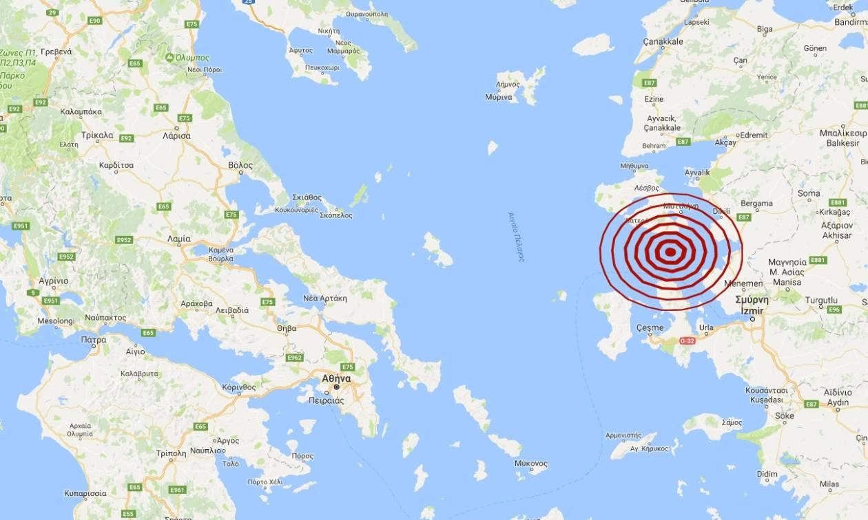 Σεισμός ΤΩΡΑ: Ισχυρός μετασεισμός μεταξύ Χίου και Μυτιλήνης (pics)