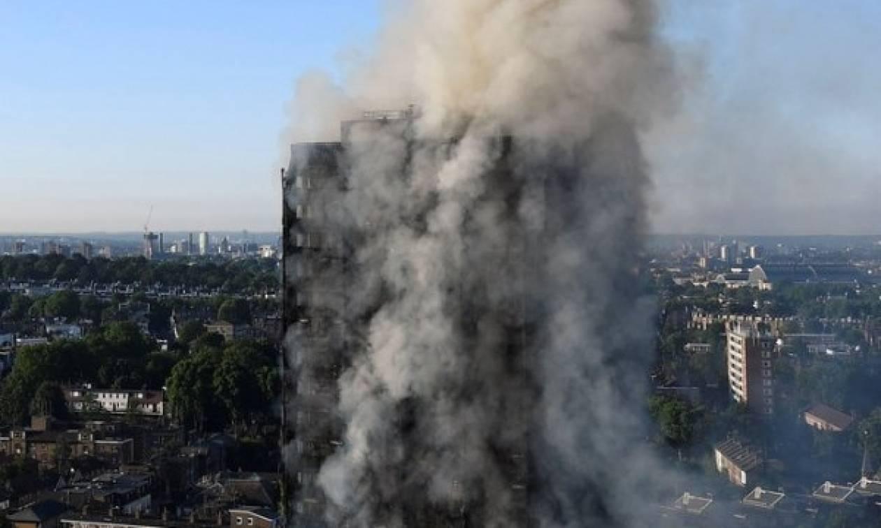 Φωτιά Λονδίνο:Φόβοι ότι δεν επέζησε κανείς από τους τρεις τελευταίους ορόφους του φλεγόμενου κτηρίου