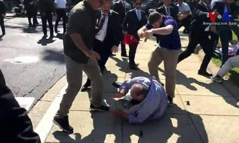 ΗΠΑ: Εντάλματα σύλληψης για 12 σωματοφύλακες του Ερντογάν