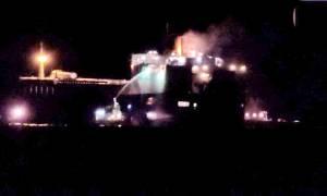 Ρόδος: Σε ύφεση η φωτιά που εκδηλώθηκε στο οχηματαγωγό πλοίο «med star»