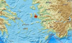 Νέος σεισμός κοντά στη Χίο