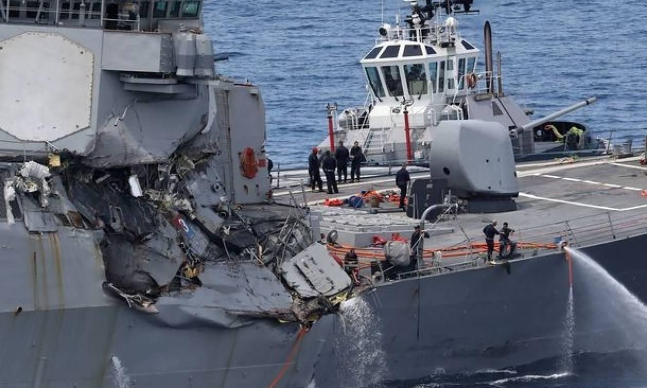 Ιαπωνία: Αμερικανικό αντιτορπιλικό πλοίο συγκρούστηκε με εμπορικό – Επτά αγνοούμενοι