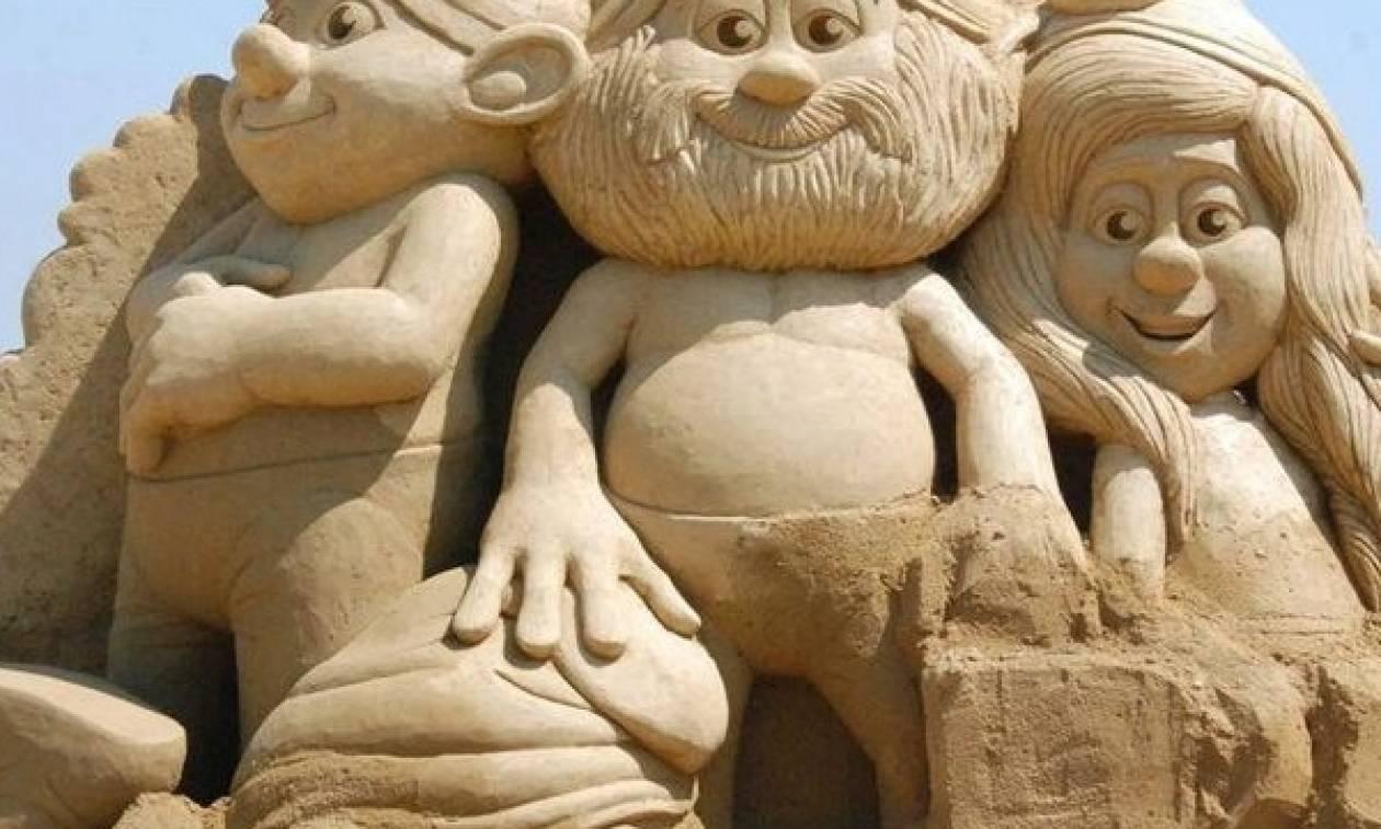 Όταν η τέχνη πάει θάλασσα…. Γλυπτά από άμμο στην Κρήτη (vid)