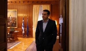 Συνάντηση Τσίπρα με Θεοδωράκη - Λεβέντη