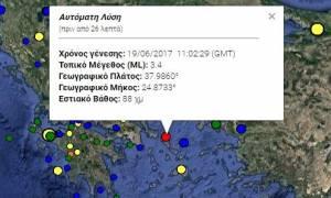 Σεισμός στην Άνδρο
