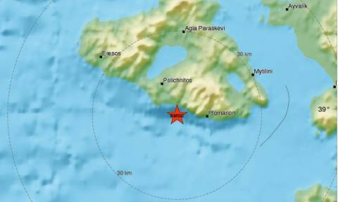 Новое землетрясение зафиксировано на Лесбосе