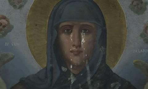 Μέγα σημείο: Δάκρυσε εικόνα της Αγίας Παρασκευής (pics+vid)