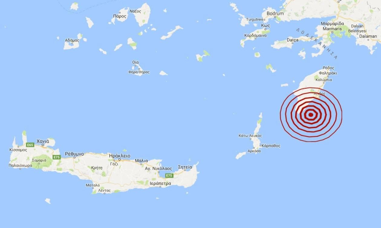 Σεισμός νότια της Ρόδου (pics)